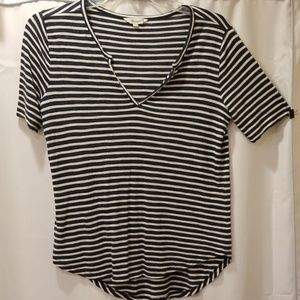 Madewell Blue & White Striped Tee Size S